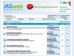 Het Online Spreekuur op het Forum van MSweb