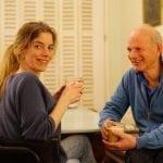 Voorzitter Jan van Amstel met zijn dochter Reni de Boer