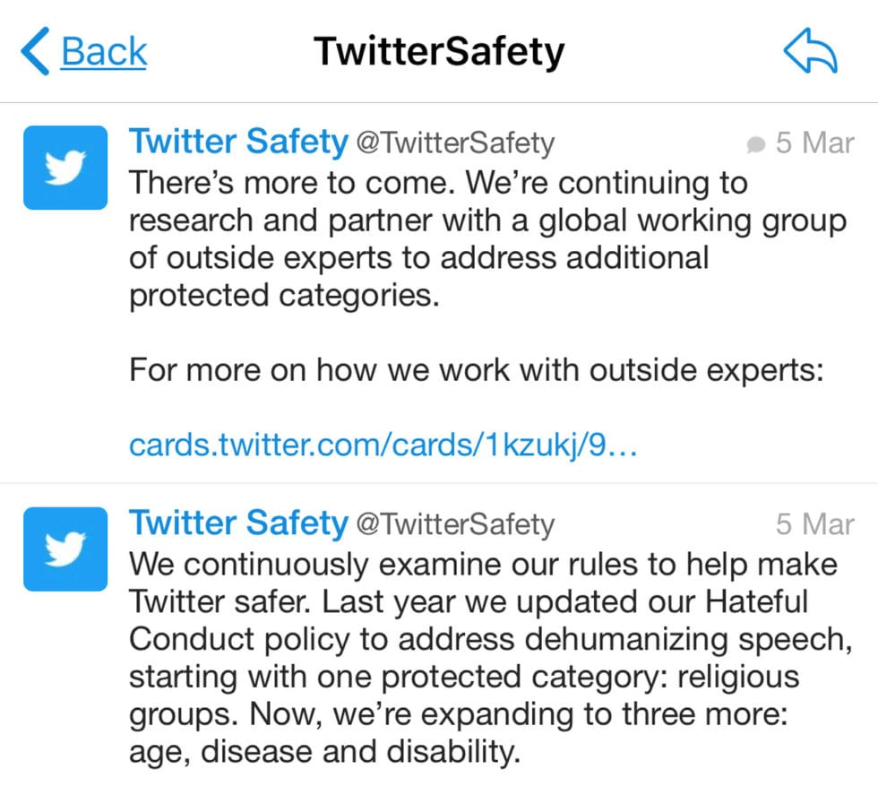 Geen Haatdragende Tweets Tegen Gehandicapten