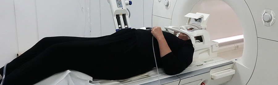 MS-patiënt In MRI Scanner