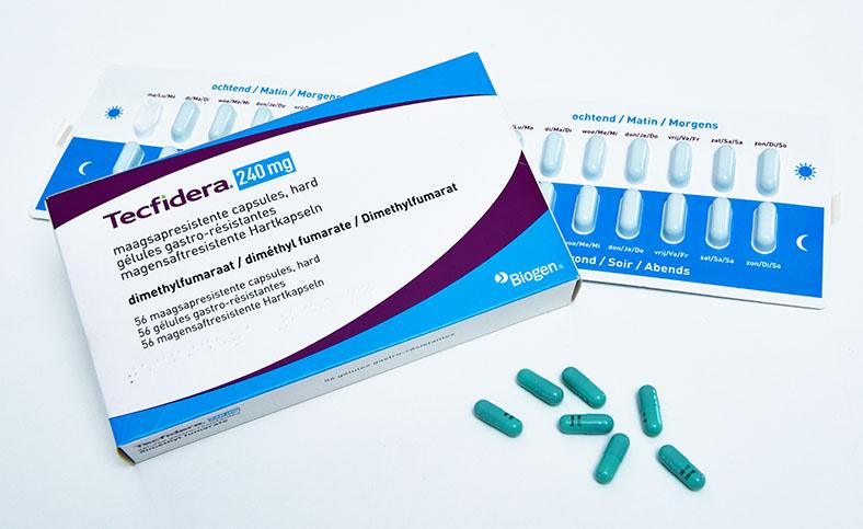 Tecfidera is een ziekte remmend medicijn