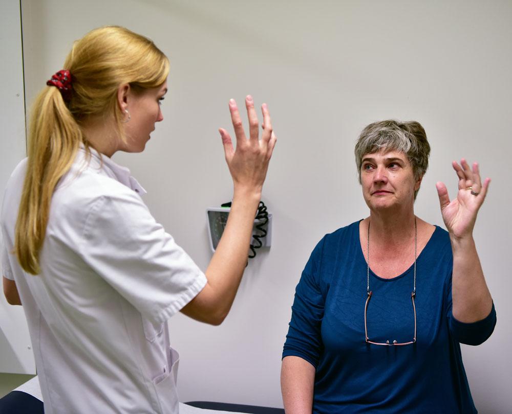 In het kader van project Y worden patiënten in het VU Medisch Centrum onderzocht. Alleen voor redactioneel gebruik. Foto: Martin de Bouter | Hollandse Hoogte