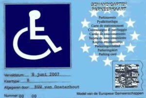 gehandicaptenparkeerkaart