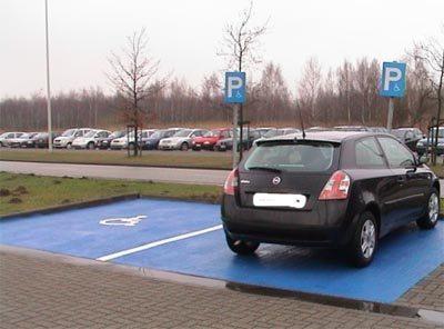 Parkeerplaats met GPK