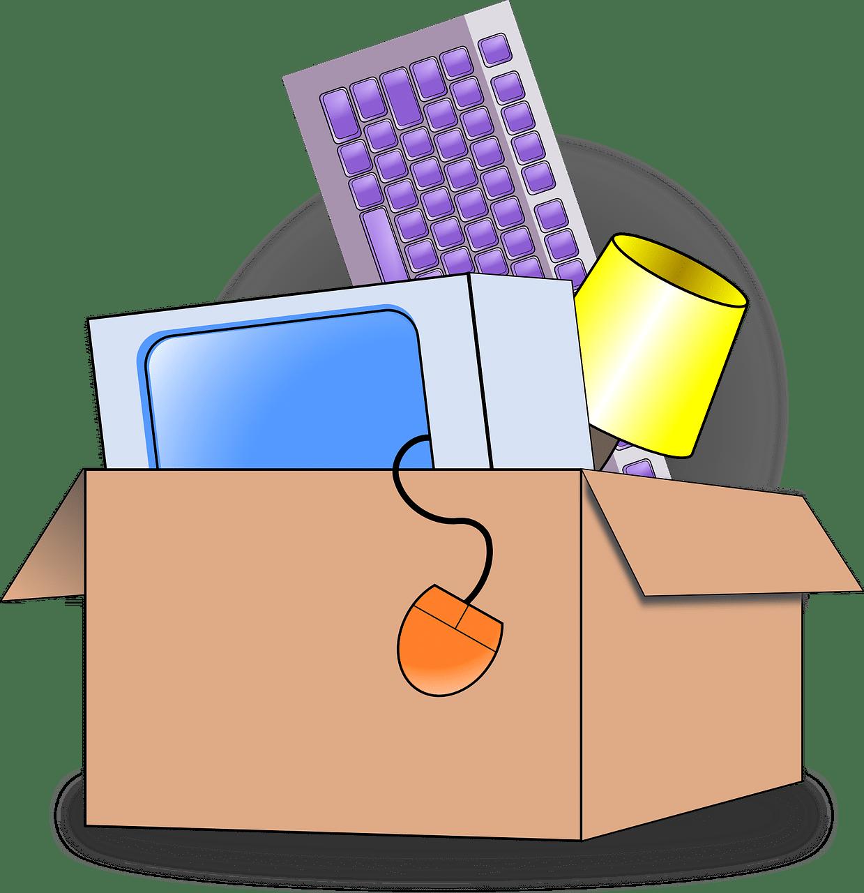 Verhuisdoos Met Laptop