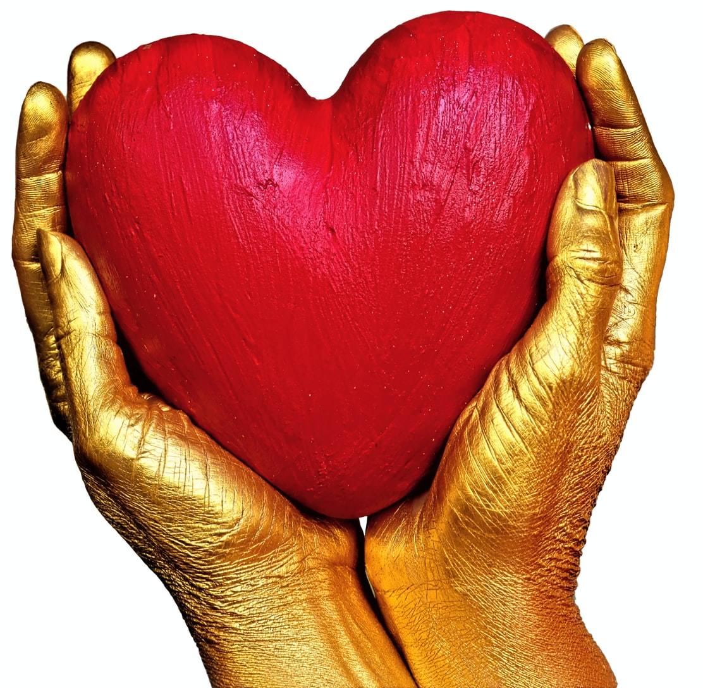 Hart In Gouden Handen